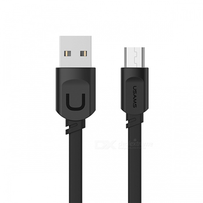 USAMS U-Trans Series 2.1A Fast Charge Micro USB Charging Cable - Black (1M)