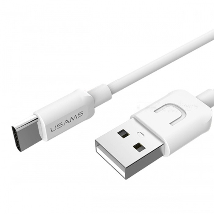 USAMS US-SJ099 Round 2A Fast Charge USB Type-C Cable - White (1M)