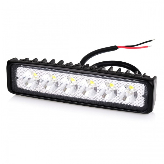 IP67 Waterproof 18W LED Work Light for Indicator, Motorcycle Driving Offroad Boat Car Tractor Truck 4x4 SUV ATV Flood LampOff-Road Lights<br>Color BINCold WhiteModelN/AQuantity1 DX.PCM.Model.AttributeModel.UnitMaterialAluminumForm  ColorBlackEmitter TypeLEDChip BrandOthers,N/AChip TypeN/ATotal Emitters6Power18WColor Temperature6000-6500 DX.PCM.Model.AttributeModel.UnitActual LumensN/A DX.PCM.Model.AttributeModel.UnitRate VoltageN/AWaterproof FunctionYesConnector TypeOthers,N/AApplicationReading lamp,Others,Work LightPacking List1 x 18W LED Worklight<br>