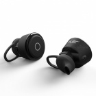 Brutus T6 TWS Bluetooth V4.1 Mini Wireless Dual Earphone, Stereo In-Ear HIFI Earbuds Headphone for IPHONE - Black