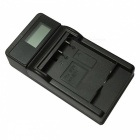 Ismartdigi CNP120 LCD USB Camera Battery Charger for Casio CNP120 NP120 Battery - Black