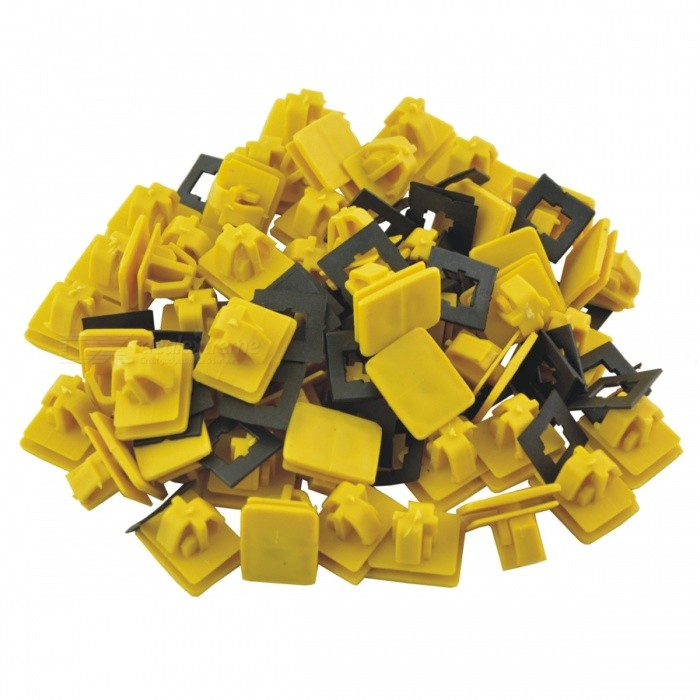CARKING 50Pcs Car Auto Fender Rectangular Push in Plastic Rivets Fasteners - YellowOther Gadgets<br>Form  ColorYellowModelA/NQuantity50 DX.PCM.Model.AttributeModel.UnitMaterialPlasticShade Of ColorYellowPacking List50(±2%) x Plastic Rivets<br>