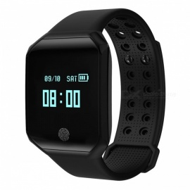 Z66 Big Screen Bluetooth Smart Sports Bracelet with Pedometer, Heart Rate Monitor - Black