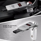 TZ800 Bluetooth Car Kit Wireless Handsfree FM Transmitter MP3 Player - Silver + White