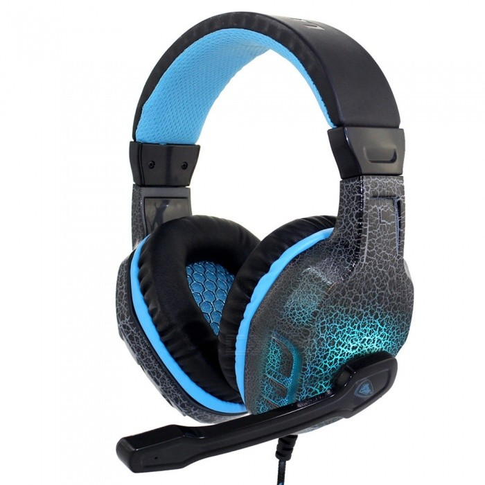 nubwo no 3000 stereo gaming headset gamer casque headphone w led colorful lights mic for pc. Black Bedroom Furniture Sets. Home Design Ideas