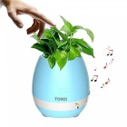 MK3 Music Flower Pot Shape Smart LED Bluetooth Speaker - Blue