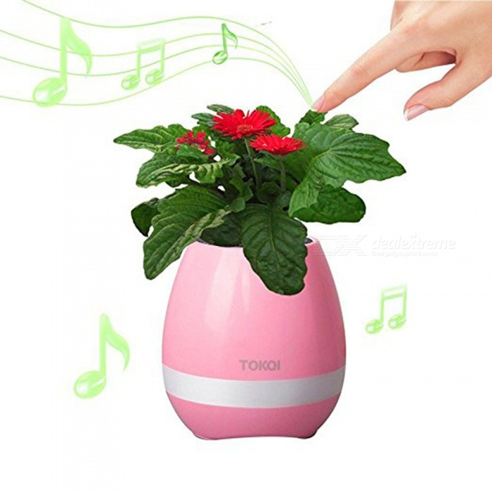 MK3 Music Flower Pot Shape Smart LED Bluetooth Speaker - PinkBluetooth Speakers<br>Form  ColorPinkModelMK3MaterialABSQuantity1 DX.PCM.Model.AttributeModel.UnitShade Of ColorPinkBluetooth HandsfreeNoBluetooth VersionBluetooth V3.0Operating Range10MInterfaceOthers,USBSNR90dBFrequency Response20-20KHZBuilt-in Battery Capacity 1200 DX.PCM.Model.AttributeModel.UnitMusic Play Time12 DX.PCM.Model.AttributeModel.UnitPower AdapterUSBPower Supply3.7VCertificationCEPacking List1 x Wireless Flowerpot speaker1 x Cable1 x Manual<br>