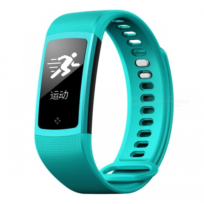 S8 Touch Screen Smart Bracelet with Oxyen Blood Pressure, Heart Rate Monitor - Green