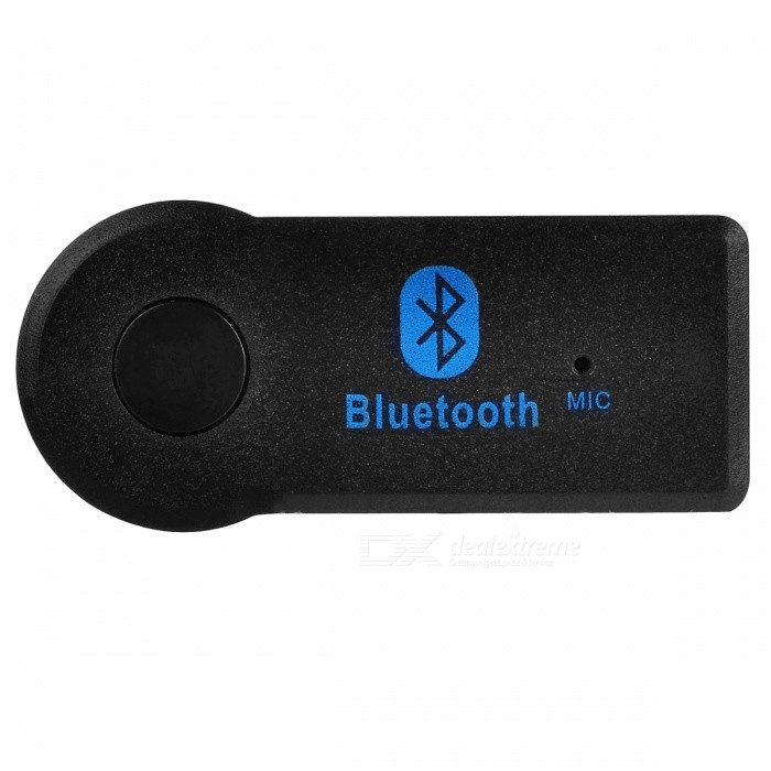 Car Bluetooth Music Receiver Handsfree Audio Stereo Adapter with 3.5mm AUX Plug - BlackBluetooth Car Kits<br>Form  ColorBlackModelBTQuantity1 DX.PCM.Model.AttributeModel.UnitMaterialABSFunctionOthers,Bluetooth Music ReceiverCompatible CellphoneOthers,IPHONE, Android, WindowsVoice Prompt LanguageOtherBluetooth VersionBluetooth V4.0Transmit Distance10 DX.PCM.Model.AttributeModel.UnitCharging Voltage0 DX.PCM.Model.AttributeModel.UnitInterface/PortOthers,3.5mmPacking List1 x Receiver1 x 3.5mm to 3.5mm Audio Cable1 x USB Charging Cable1 x User Manual<br>