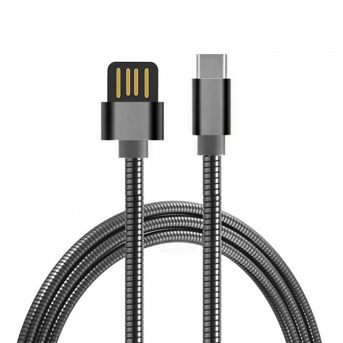 Cwxuan Stainless Steel Spring USB 3.1 Type-C Charging Data Cable ...