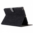 "Retro Frosted PU Leather Case Cover Wallet Cards Holder with Stand Function for 2017 9.7"" IPAD - Black"