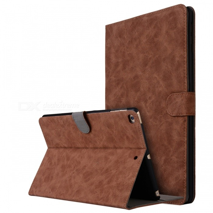 Retro Frosted PU Leather Case Cover Wallet Cards Holder with Stand Function for 2017 9.7 IPAD - BrownTablet Cases<br>Form  ColorBrownQuantity1 pieceShade Of ColorBrownMaterialPU LeatherCompatible ModelIPAD 2017 9.7Compatible BrandOthers,AppleTypeLeather Cases,Full Body CasesStyleBusiness,Casual,FashionCompatible SizeOthers,9.7 inchesPacking List1 x PU Leather Case<br>