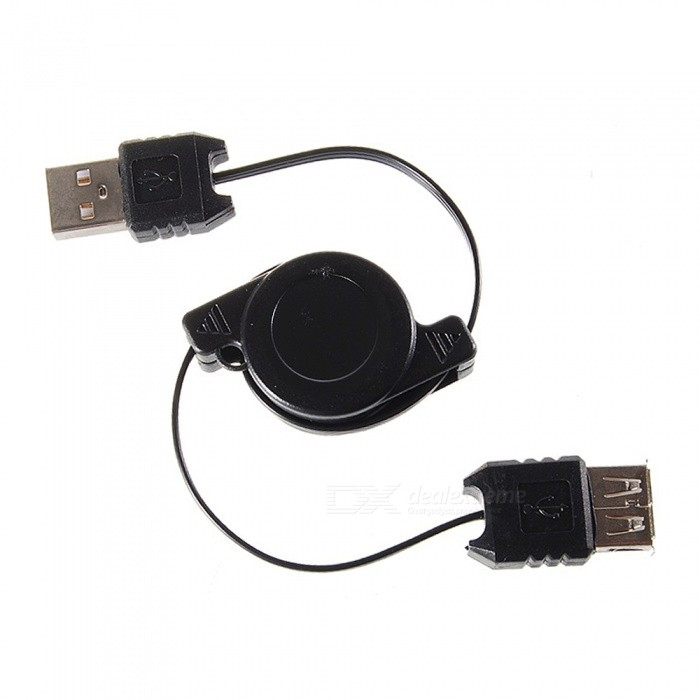 Cwxuan Retractable USB 2.0 Male to Female Extension Data Cable - Black (70cm)Laptop/Tablet Cable&amp;Adapters<br>Form  ColorBlackQuantity1 setShade Of ColorBlackMaterialABSInterfaceUSB 2.0Compatible ModelUniversalTransmission Rate480 MbpsPacking List1 x Retractable USB cable<br>