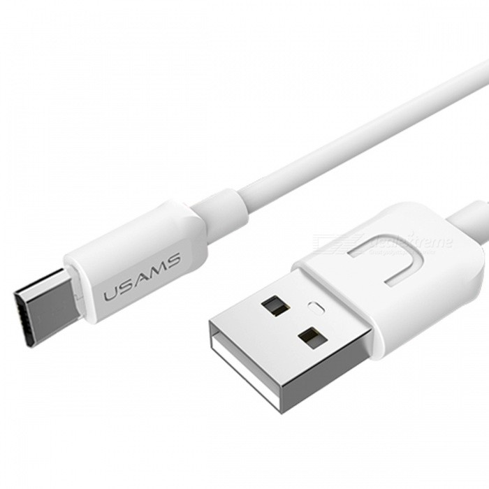 USAMS US-SJ098 5V 2A Micro USB Fast Charging Data Cable - White (1m ...