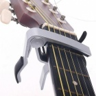 Quick Change Clamp Key Acoustic Classic Guitar Capo for Tone Adjusting - Silver