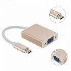 TUTUO USB 3.1 Type-C Male to VGA Female Converter Connector Adapter Cable - Golden