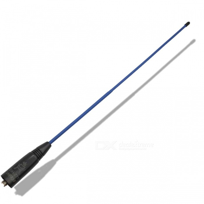 DH-771 Color Series High Gain UV Dual Band Antenna with SMA Female Connector for Walkie Talkie - Blue + BlackWalkie Talkies Supplies<br>Form  ColorBlack + BlueModelDH-771Quantity1 DX.PCM.Model.AttributeModel.UnitMaterialPVCCompatible BrandUniversal SMA Female ConnectorCompatible ModelUniversal SMA Female ConnectorPacking List1 x Antenna<br>