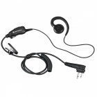 CP040 GP300 Walkie Talkie Small Coil Headset, PTTCP1300 CP1660 Headset - Black