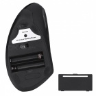 MODAO 6 Buttons 3 Levels Adjustable DPI Ergonomic Vertical Bluetooth Wireless Mouse - Black