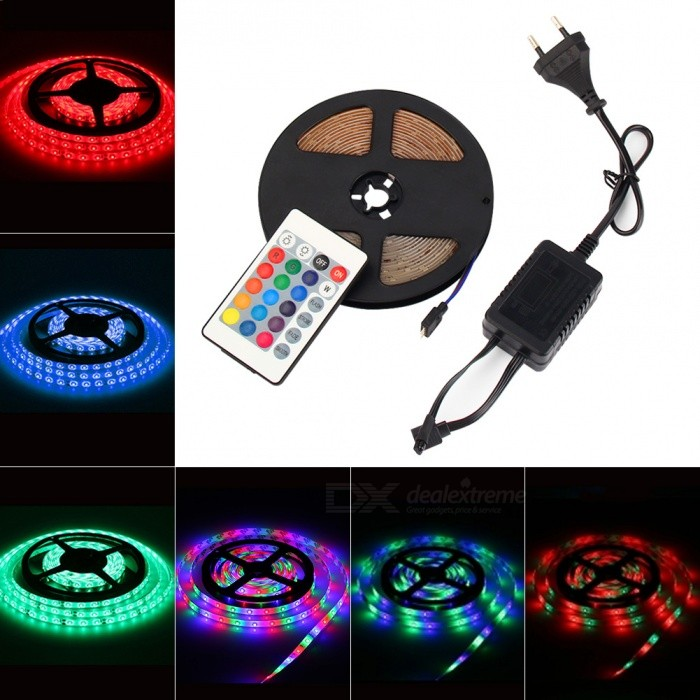 MIFXION 5m 270-LED 2835 SMD DC12V IP65 Waterproof Remote Control RGB Color LED Strip LightOther SMD Strips<br>Form  ColorTranslucent White + WhiteColor BINRGBForm  ColorBlackColor BINRGBModelMFX-2835-RGB-1A-24CONMaterialFPC circuit board and glueQuantity1 DX.PCM.Model.AttributeModel.UnitPower24WRated VoltageOthers,AC110-265 DX.PCM.Model.AttributeModel.UnitEmitter TypeOthers,SMD2835Total Emitters270Color TemperatureRGBWavelength630Theoretical Lumens60-70 DX.PCM.Model.AttributeModel.UnitActual Lumens60 DX.PCM.Model.AttributeModel.UnitPower AdapterEU PlugCertificationCE, RoHSOther FeaturesLight Source: LED; Item Type: Light Strips; Angle: 120° ; Working Temperature(): -20~+60; Working Lifetime(Hour): 30000H; IP Rating: IP65; Warranty: 2 yearsPacking List1 x Strip light1 x Remote controller1 x Power adapter<br>