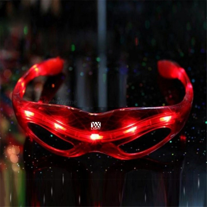 YWXLight LED Spiderman Luminous Glasses for Halloween Party - Red