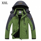 Winter Windproof Men's Warm Hooded Outwear Jacket Parkas - Green (XXL)