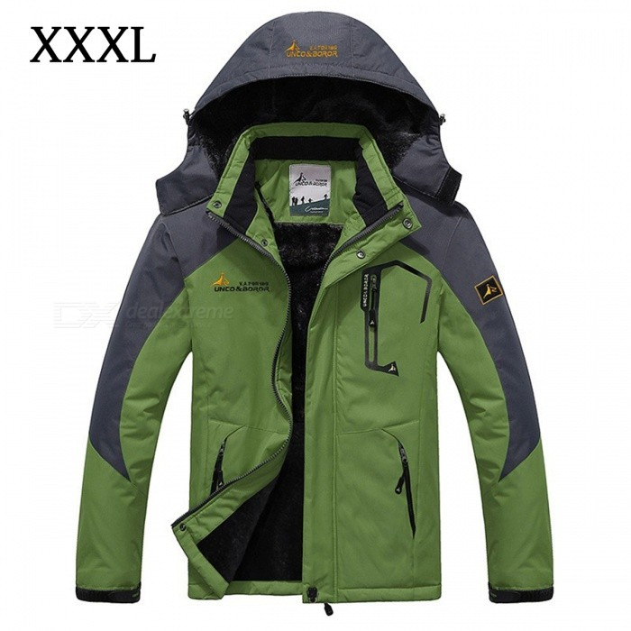 Winter Windproof Mens Warm Hooded Outwear Jacket Parkas - Green (XXXL)Jackets and Coats<br>Form  ColorGreenSizeXXXLModelMY229Quantity1 DX.PCM.Model.AttributeModel.UnitShade Of ColorGreenMaterialPolyester,CottonStyleCasualTop FlyZipperShoulder Width54 DX.PCM.Model.AttributeModel.UnitChest Girth126 DX.PCM.Model.AttributeModel.UnitSleeve Length68.5 DX.PCM.Model.AttributeModel.UnitTotal Length77 DX.PCM.Model.AttributeModel.UnitSuitable for Height180-185 DX.PCM.Model.AttributeModel.UnitPacking List1 x Jacket<br>