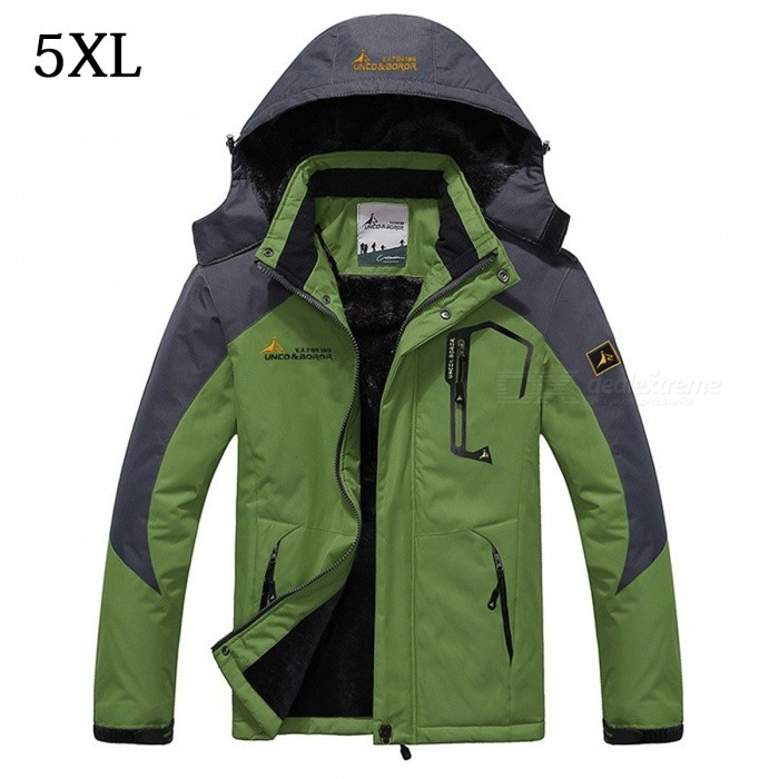 Winter Windproof Mens Warm Hooded Outwear Jacket Parkas - Green (5XL)Jackets and Coats<br>Form  ColorGreenSize5XLModelMY229Quantity1 pieceShade Of ColorGreenMaterialPolyester,CottonStyleCasualTop FlyZipperShoulder Width58 cmChest Girth130 cmSleeve Length71 cmTotal Length82 cmSuitable for Height190-195 cmPacking List1 x Jacket<br>
