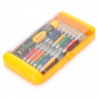 Precision Screw Drivers Toolkit para la electrónica DIY - Azul + Naranja (14-Piece Set)