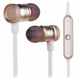 Cwxuan Sports Magnetic Bluetooth V4.2 Stereo Earphone with Microhone - Golden