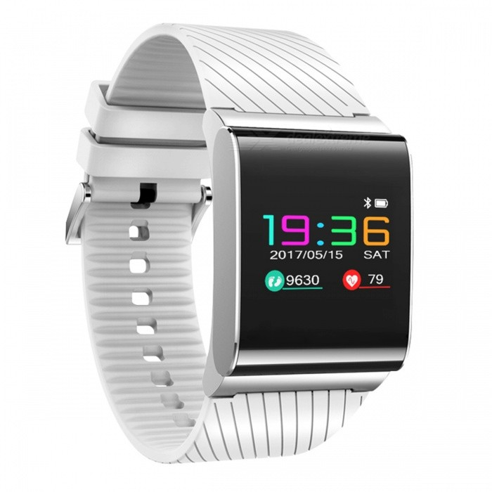 DMDG Waterproof 0.95 Colour Screen Bluetooth V4.0 Smart Sports Wristband Watch with Blood Pressure, Heart Rate Monitor - WhiteSmart Watches<br>Form  ColorWhiteModelN/AQuantity1 DX.PCM.Model.AttributeModel.UnitMaterialSiliconeShade Of ColorWhiteCPU ProcessorNRF52832Screen Size0.95 DX.PCM.Model.AttributeModel.UnitScreen Resolution96*64Touch Screen TypeYesNetwork TypeOthers,NOSIM Card TypeOthers,NOBluetooth VersionBluetooth V4.0Compatible OSiOS, AndroidLanguageSimplified Chinese, EnglishWristband Length26 DX.PCM.Model.AttributeModel.UnitWater-proofIP67Battery ModeNon-removableBattery TypeLi-ion batteryBattery Capacity105 DX.PCM.Model.AttributeModel.UnitStandby Time15 DX.PCM.Model.AttributeModel.UnitPacking List1 x Smart Watch1 x English Manual1 x Charging Cable<br>