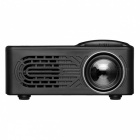 Mini Portable 1080P HD LED Projector for Home Use - Black (US Plug)