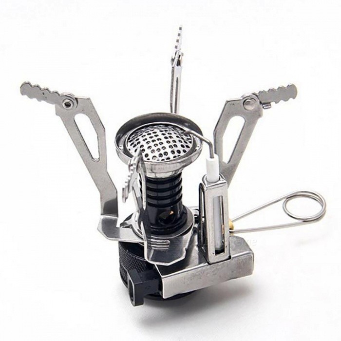 Outdoor Portable Cooking Tool Mini Foldable Steel Camping Picnic Gas Stove BurnerCooking Stove And Hardware<br>Form  ColorWhiteQuantity1 pieceMaterialAluminum AlloyBest UseFamily &amp; car camping,Camping,Mountaineering,Travel,Cycling,FishingTypeOthers,-Packing List1 x Gas Camping Stove<br>