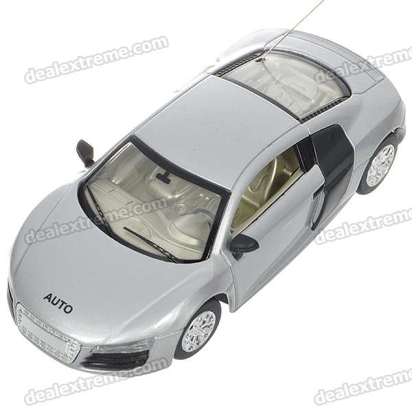 1/43 Scale Rechargeable R/C Model Car - Silver (49MHz)