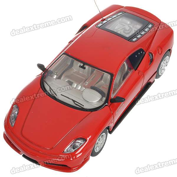 1/43 Scale Rechargeable R/C Model Car - Red (40MHz)