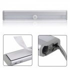 P-TOP 3000-3500K Warm White 10-LED IR Infrared Motion Detector Wireless Sensor Closet Cabinet Light Lamp - Silver
