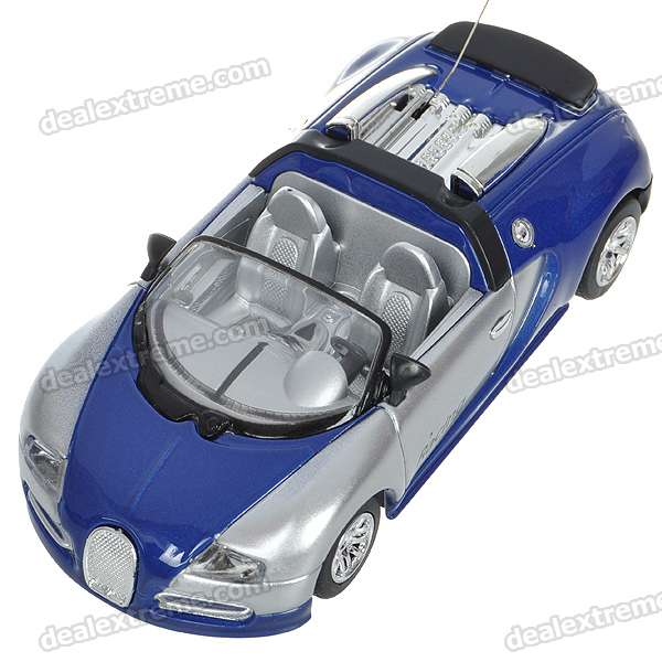 1/43 Scale Rechargeable R/C Model Car - Blue + Silver (27MHz)