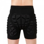 WOLFBIKE BC305 Protective Drop Resistance Roller Padded Hip Butt Pad Shorts for Snowboard Skating Skiing - Black (XS)