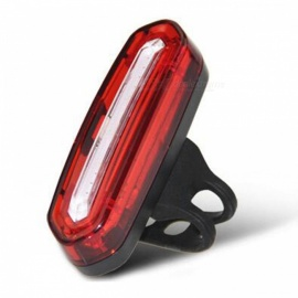 100LM USB Rechargeable COB LED Mountain Bike MTB Safety Tail Light - Red Light