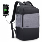 DTBG 17.3 Inch Water-Resistant Laptop Backpack with USB Charging Port - Black