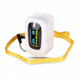 Fingertip Pulse Oximeter, Spo2 PR Saturation Monitor, Blood Pressure Monitor Meter with LED Display - White