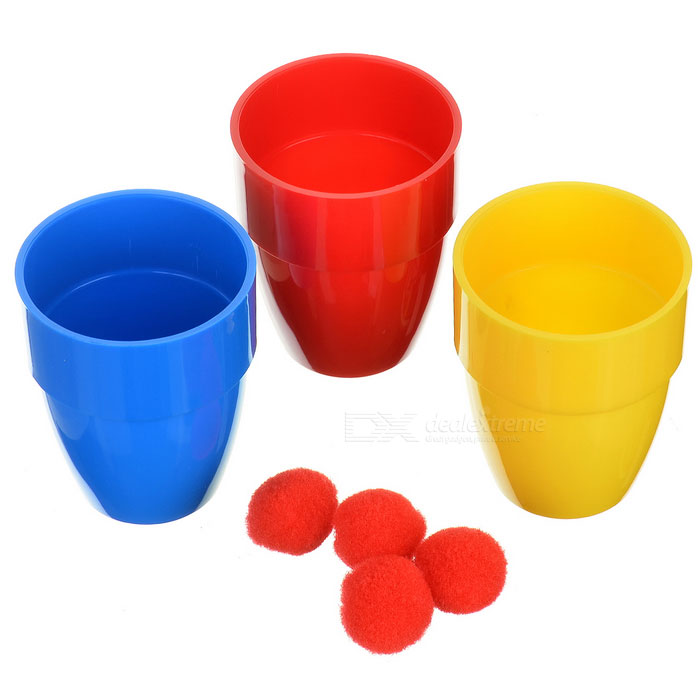 Party Magic Tricks Prop and Training Set - Balls and Cups