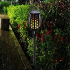 Outdoor Waterproof Solar Dancing Flame Flickering Garden Lawn Decor Lamp, LED Torch Light