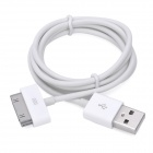 USB Data Cable for iPhone 4 - White (100cm-Length)