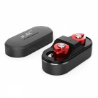 Brutus T8 Mini Twins True Stereo TWS Bluetooth 4.1 Wireless Earbuds Headset with Charging Box - Red