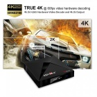 A5X Max+ Android 7.1 Smart TV Box Network Media Player RK3328 Set Top Box with 4GB RAM, 32GB ROM - EU Plug
