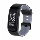 Buy F4 0.96 inch OLED Smart Fitness Bracelet Blood Pressure Oxygen, Heart Rate Monitor - Grey