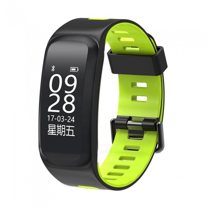 F4 0.96 OLED Smart Fitness Bracelet with Blood Pressure Oxygen, Heart Rate Monitor - GreenSmart Bracelets<br>Form  ColorGreen + BlackModelF4Quantity1 setMaterialSiliconeShade Of ColorGreenWater-proofIP68Bluetooth VersionBluetooth V4.0Touch Screen TypeYesCompatible OSAndroid 4.3 and above &amp; iOS 8.0 and aboveBattery Capacity130 mAhBattery TypeLi-polymer batteryStandby Time5-7 daysPacking List1 x Smart Bracelet1 x Charging Cable1 x User Manual<br>