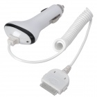 Car Cigarette Powered USB Adapter/Charger for iPhone 3G/3GS/4/ 4S - White (DC 12~24V)