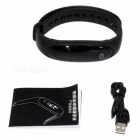 E26 Smart Bracelet with Blood Pressure, Heart Rate Monitor, Fitness Tracker - Black